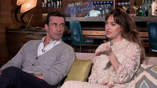 BAD TIMES AT THE EL ROYALE Dakota Johnson & Jon Hamm Interview