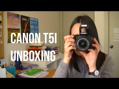 CANON EOS REBEL T5i UNBOXING