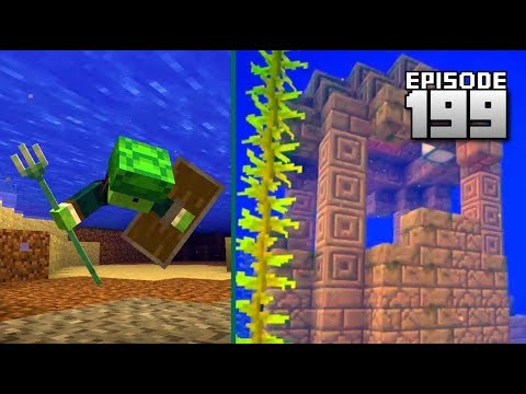 Let's Play Minecraft PE - Ep.199 : Aquatic Snapshot!/Traveling Through Dimensions!