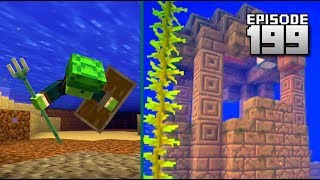 Let's Play Minecraft PE - Ep.199 : Aquatic Snapshot for Java!/Traveling Through Dimensions!