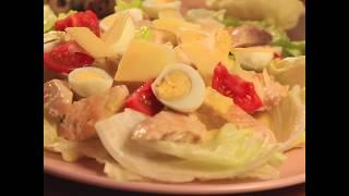 Классический салат Цезарь   Как приготовить цезарь дома?