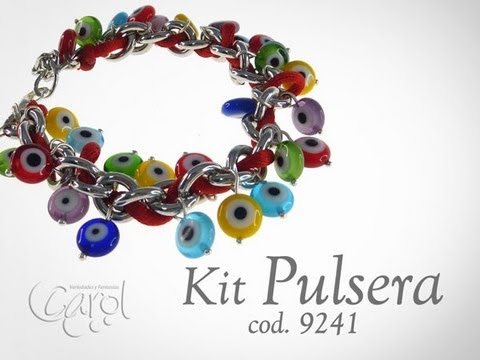 KIT 9241 KIT PULSERA OJITOS PLANOS Travel Video