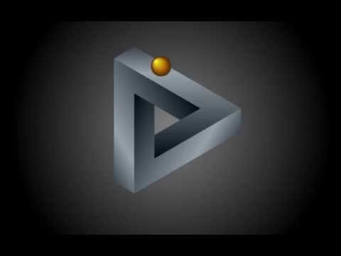 Penrose triangle with rolling ball