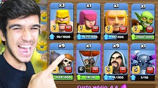 BATALHANDO COM AS TROPAS DO CLASH OF CLANS NO CLASH ROYALE!