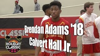 Brendan Adams '18, Calvert Hall Junior Year, 2016 UA Holiday Classic