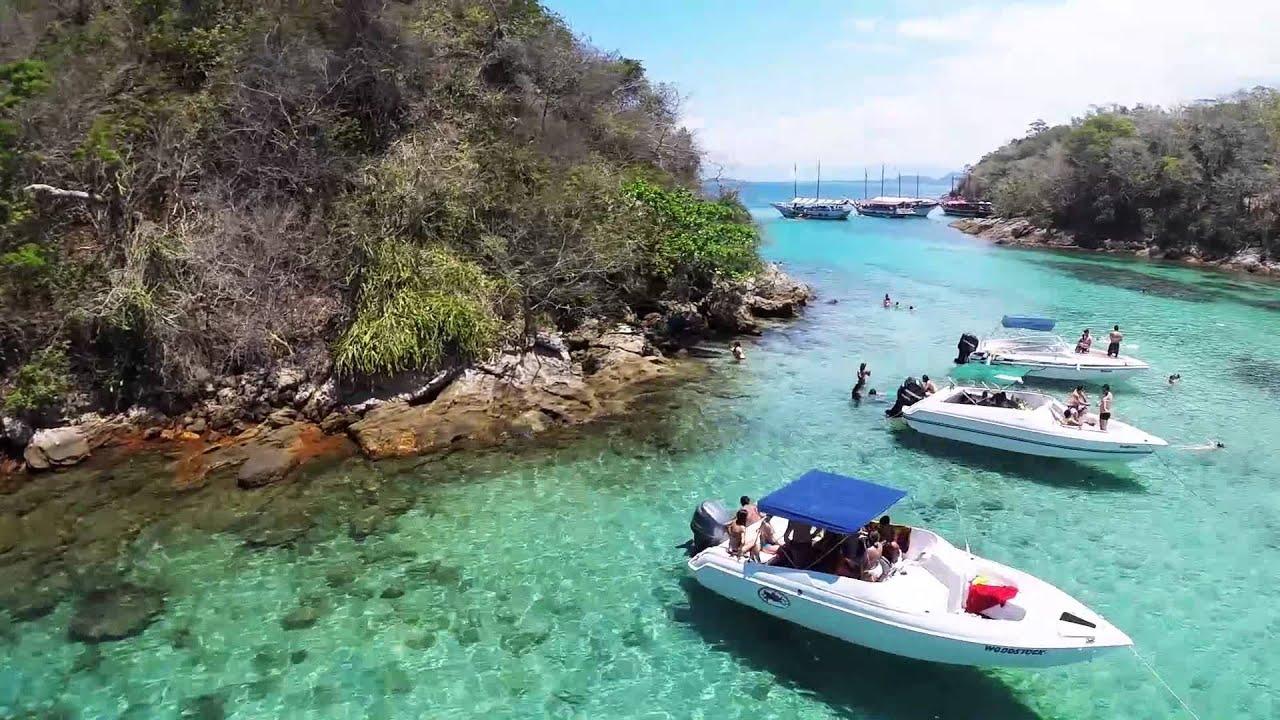 Paraíso Visto De Cima Lagoa Azul Ilha Grande Rj Youtube