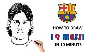 How To Draw19 Year Old Messi - Chami
