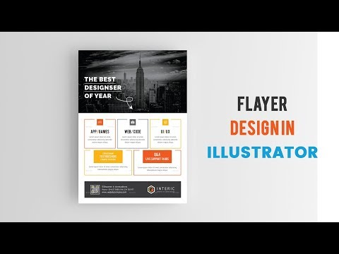 How To Design A Flyer in Adobe Illustrator - Flyer Design Bangla Tutorial  in Adobe Illustrator