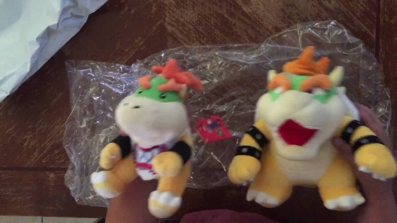 Bowser And Bowser Jr Plush Unboxing By Agar Beast