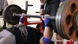 Fat Bar Speed Bench + Close Grip Assistance | Mark Bell Commentary | SuperTraining.TV