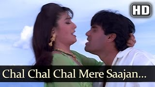 Chal Chal Chal Mere Sajan - Sunil Shetty - Raveena Tandon - Vinashak - Bollywood Songs - Viju Shah