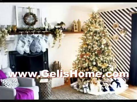 simple interior black and gold christmas decor decorations