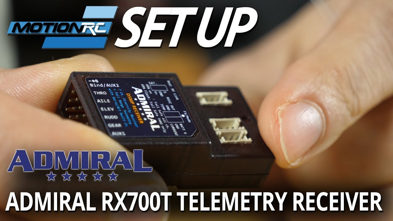 Admiral RX700T 6/7-Channel DSMX™ Compatible Telemetry Receiver - Motion RC