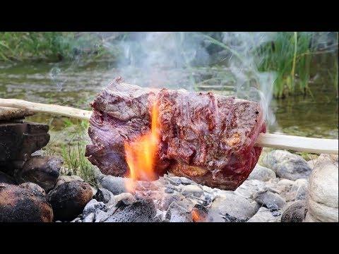 DOĞADA LOKUM BONFİLE YAPTIM | Cooking Roast Beef Tenderloin in the Nature