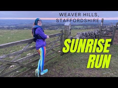 RUNNING at sunrise | SUNRISE on the Weaver Hills in Staffordshire | Running blog