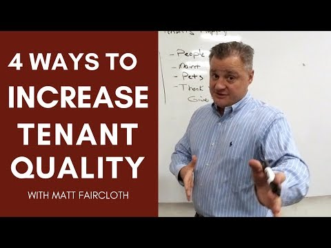 4 Ways to Increase Tenant Quality with Matt Faircloth for Bigger Pockets