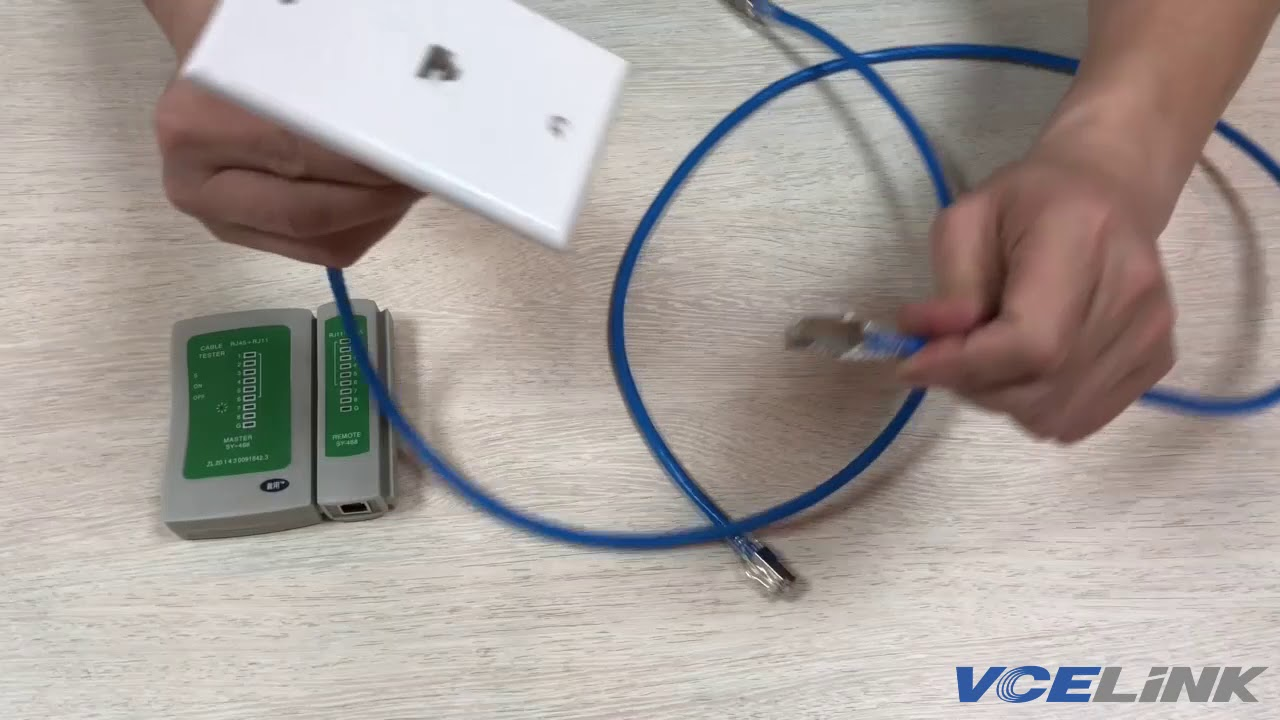How To Install Rj45 Cat6 Keystone Jack Wall Plate Vce Link Youtube