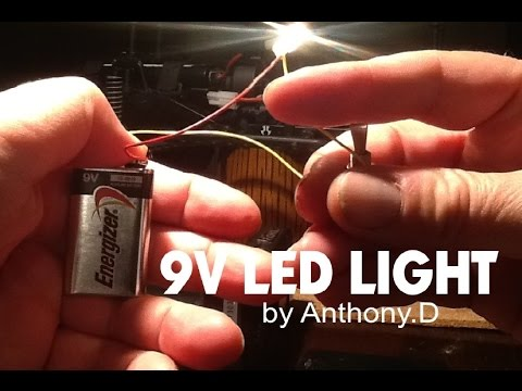 led wiring diagram 9v miller furnace how to make a 9 volt light with switch youtube