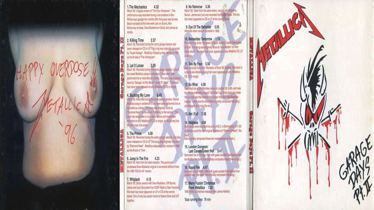 Metallica  Garage Days Pt II Full Bootleg Album 1995