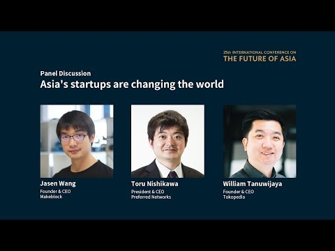 Chinese robot kit startup finds a boost from trade war -panel discussion at the Future of Asia 2019