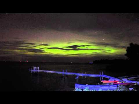 Northern Lights in Door County Wisconsin, August 3rd 2010