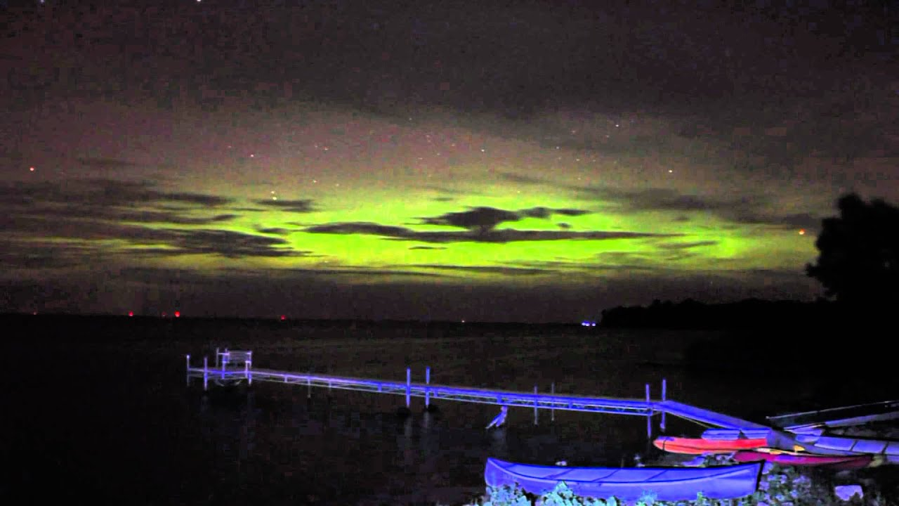& Northern Lights in Door County Wisconsin August 3rd 2010 - YouTube