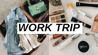 PACK WITH ME | work trip must haves