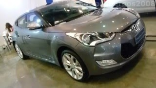 Hyundai Veloster 2014 video versión Colombia(2014 Hyundai Veloster outside walk around Hyundai Veloster 2014 - 2015 car showroom Colombia FULL HD Carros exhibidos en expomotor cali 2013 Salón ..., 2013-07-11T21:49:14.000Z)