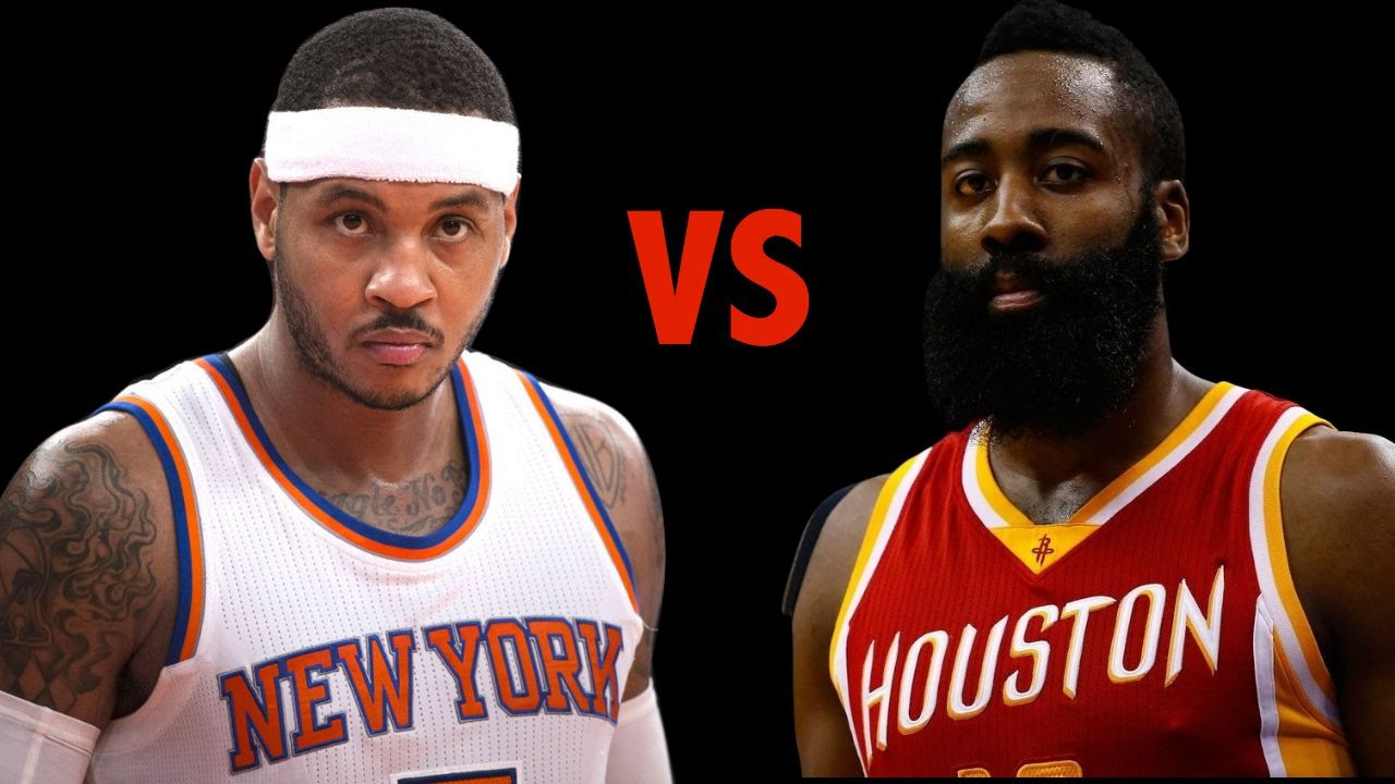 a8fbbd9d939 Carmelo Anthony VS. James Harden! Who s the Better Offensive Player ...