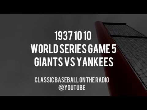 1937 10 10  World Series Game 5 Yankees at Giants Radio (Manning, Red Barber, Brown)