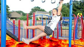 The Floor is Lava At The Park Playground For Kids
