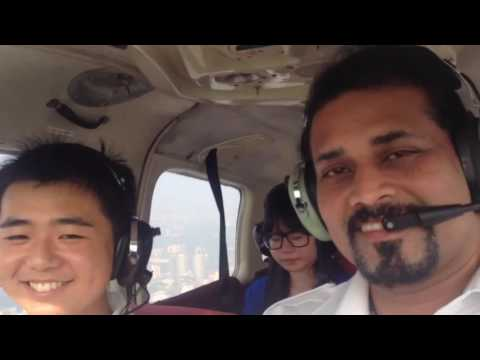 Flight overhead KL City with Exchange students 19th August 2014 Part 1