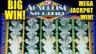 SPARKLING NIGHTLIFE Slot - BIG WIN! - MEGA PROGRESSIVE WIN! - Slot Machine Bonus