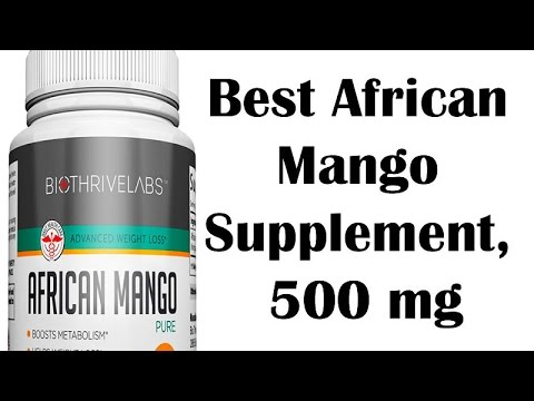 Best African Mango Supplement 500 mg! Natural Weight Loss and Detox Formula - Extra Pure, No Fillers