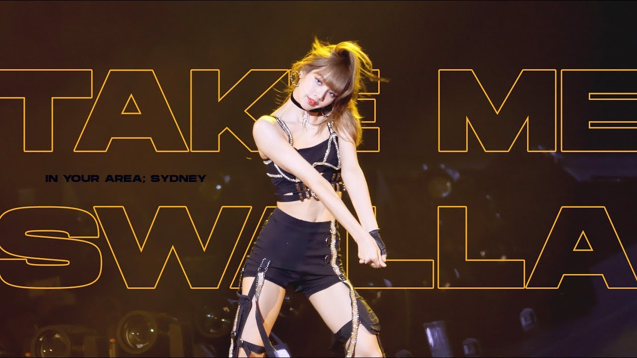 (4k) 190615 BLACKPINK LISA Solo Stage 블랙핑크 리사 직캠 (Take me + Swalla) / 2019 WORLD TOUR in SYDNEY