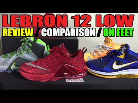 b891cc9139955 Nike Lebron 12 (XII) Low   Mid Comparison Review   On Feet - YouTube