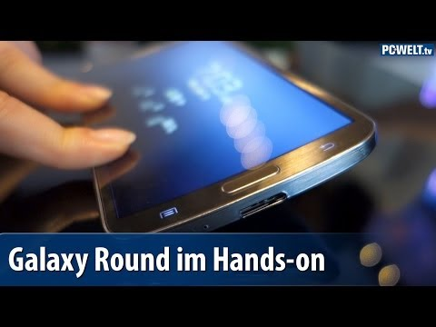 Gebogenes Display: Samsung Galaxy Round im Hands-on | deutsch / german