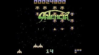 GALENCIA - New Galaga Like Commodore 64 game by PC BAKER