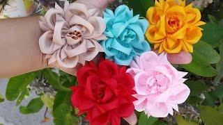 Como Fazer Flor Exótica de Fitas