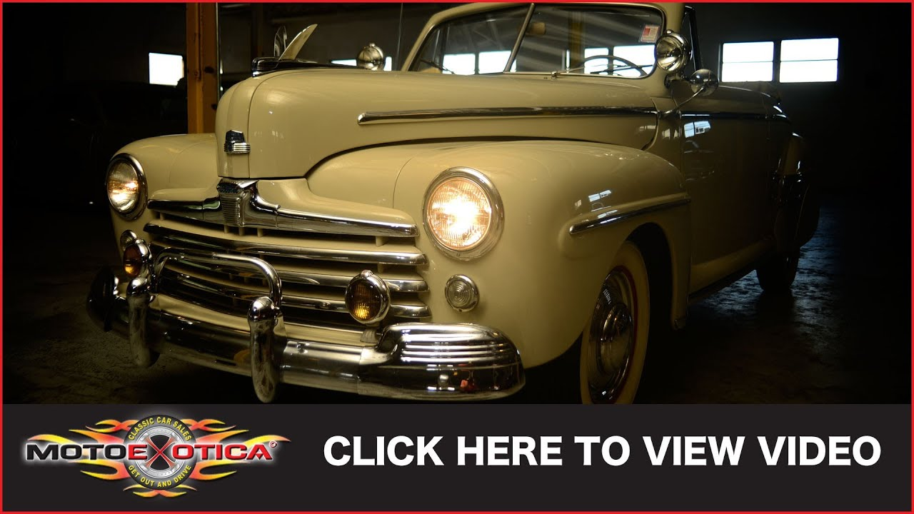 1948 Ford Super Deluxe Convertible Sold Youtube