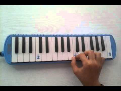 Hangimiz sevmedik melodika ile çalınışı ve notaları (Demba ba)