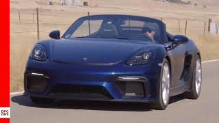 2020 Porsche 718 Spyder Gentian Blue Metallic