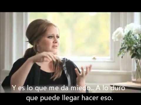 Adele habla sobre su canción Someone Like You! (subtitulada)
