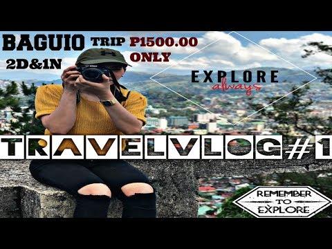 AFFORDABLE Baguio Tour + Accomodation | Travel Vlog #1