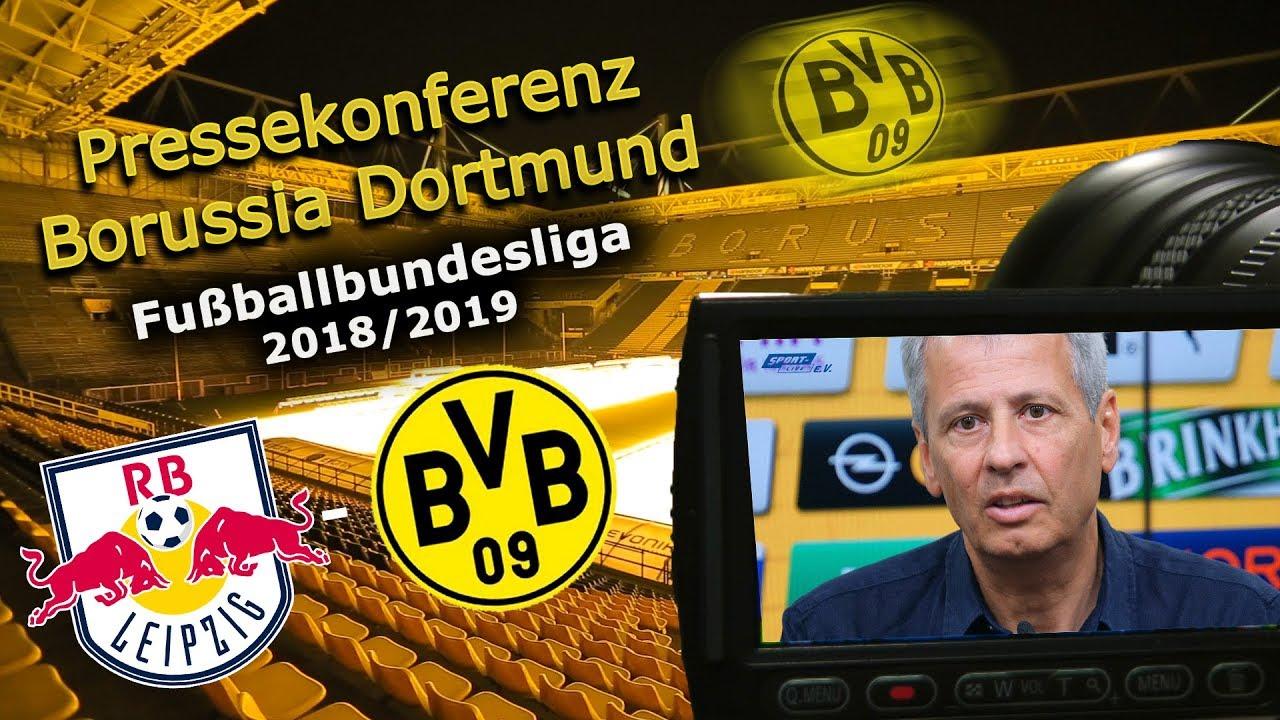 RB Leipzig - Borussia Dortmund: Pk mit Lucien Favre und Michael Zorc