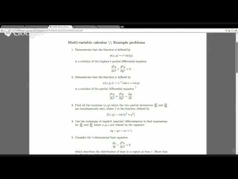 Partial derivatives example problems