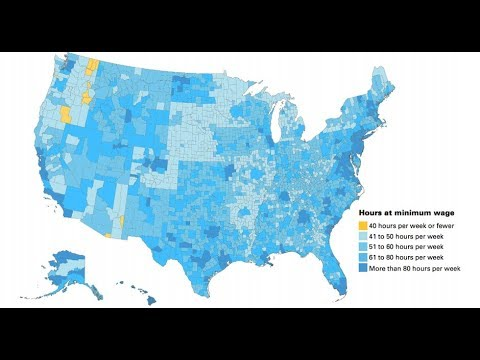 MinWage Workers Can Afford An Apartment In Just US Counties - Minimum wage us map