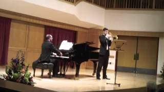 Daniel A. Watt, trombone performs Jongen Aria Polonaise at Showcase Lamont 2012