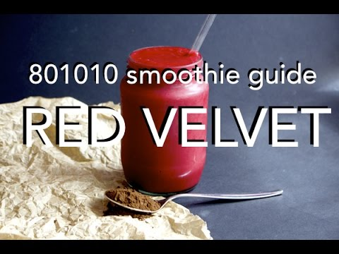 RED VELVET SMOOTHIE - low fat 801010 raw vegan