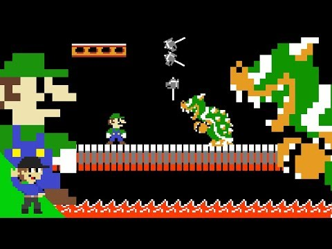 Luigi defeats Bowser by doing absolutely nothing